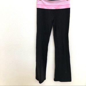 Lululemon Pants 6 Black Flare Pink Waist stretch